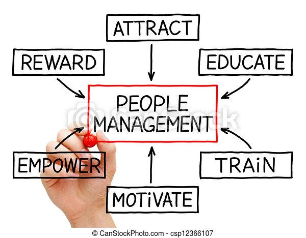 gestion, organigramme, gens - csp12366107