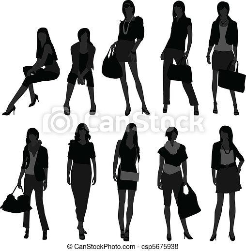 girl, achats femme, modèle, femme - csp5675938