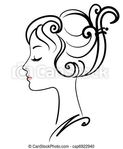 girl, illustration, figure, vecteur, beau - csp6922940
