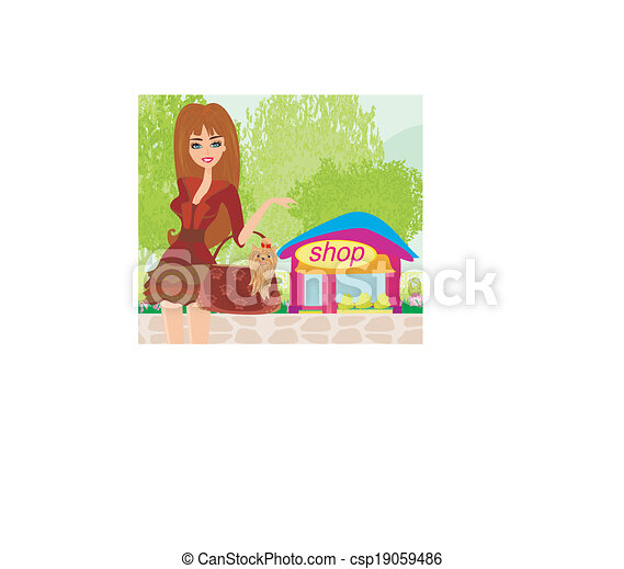 girl, mode, achats - csp19059486