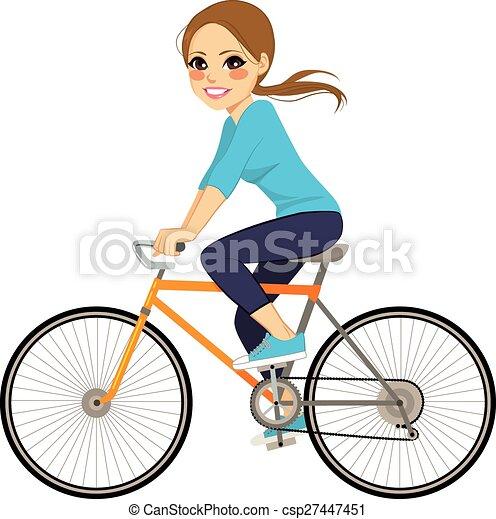 girl, vélo - csp27447451