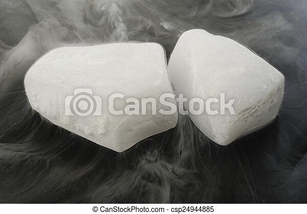glace sèche - csp24944885
