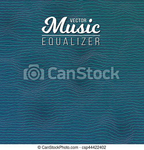 glitch, musique numérique, effet, compensateur - csp44422402
