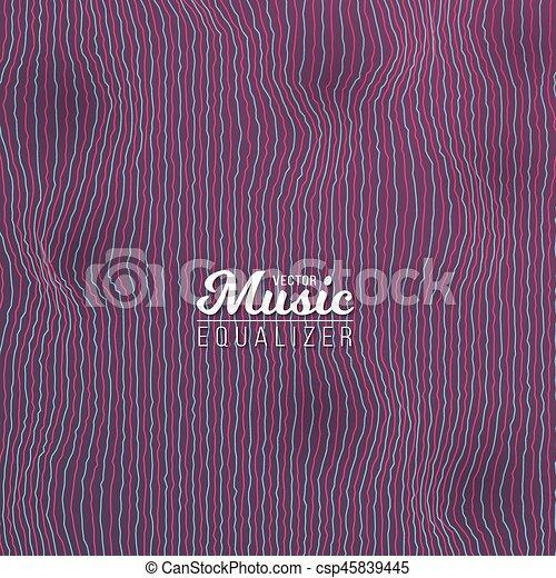 glitch, musique numérique, effet, compensateur - csp45839445