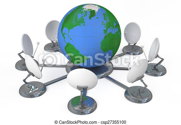 global, concept, télécommunications - csp27355100