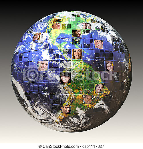global, gens, réseau - csp4117827