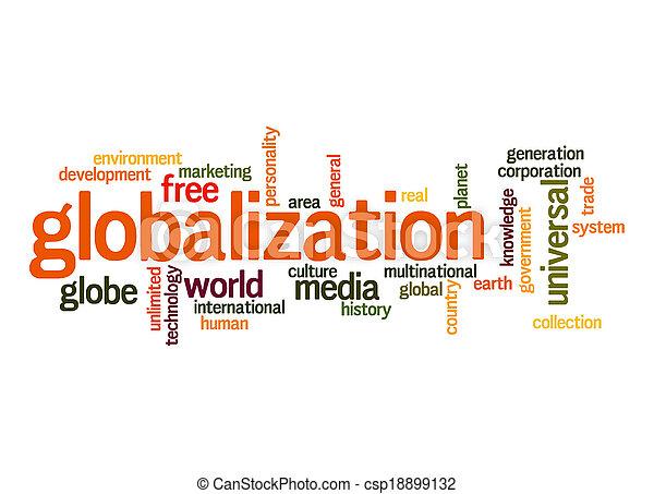 globalisation, mot, nuage - csp18899132