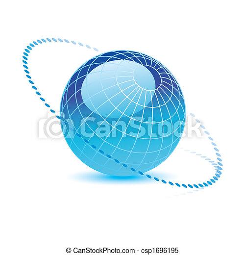 globe bleu, vecteur - csp1696195