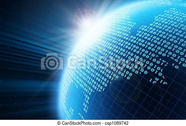 globe, numérique - csp1089742