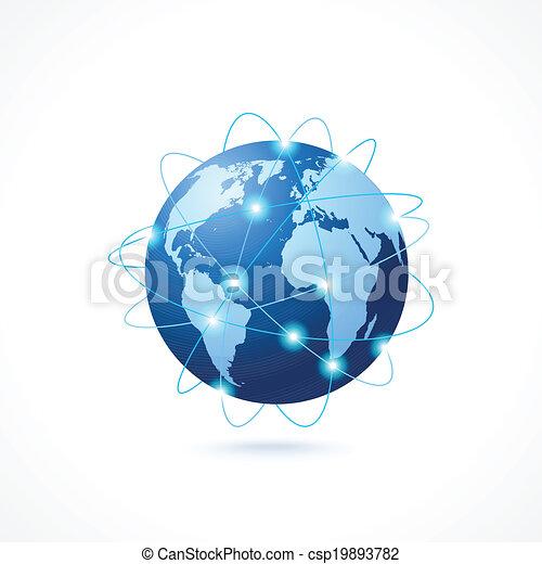 globe, réseau, icône - csp19893782