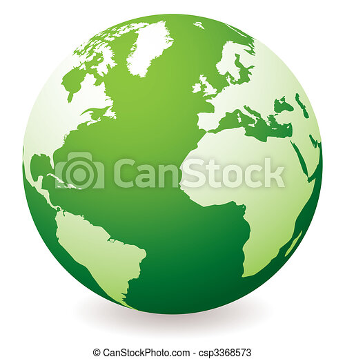 globe terre, vert - csp3368573