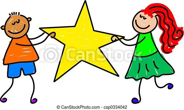 gosses, étoile - csp0334042