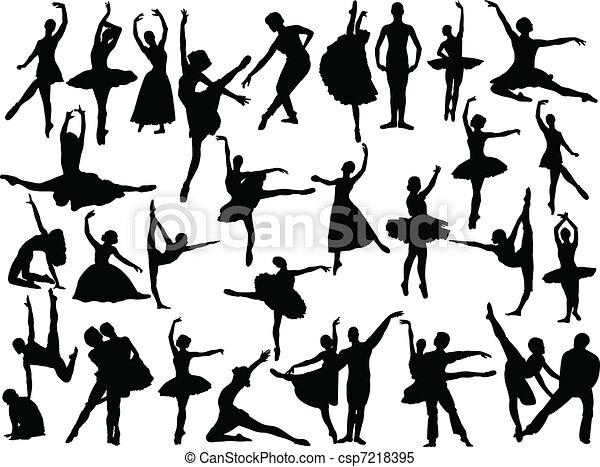 grand, ballet, vecteur, -, collection - csp7218395