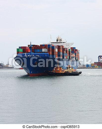 grand, cargo, récipient - csp4365913