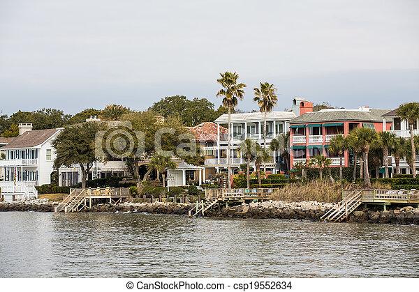 grand, maisons, côtier, tropiques - csp19552634