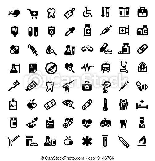 grand, monde médical, ensemble, icônes - csp13146766
