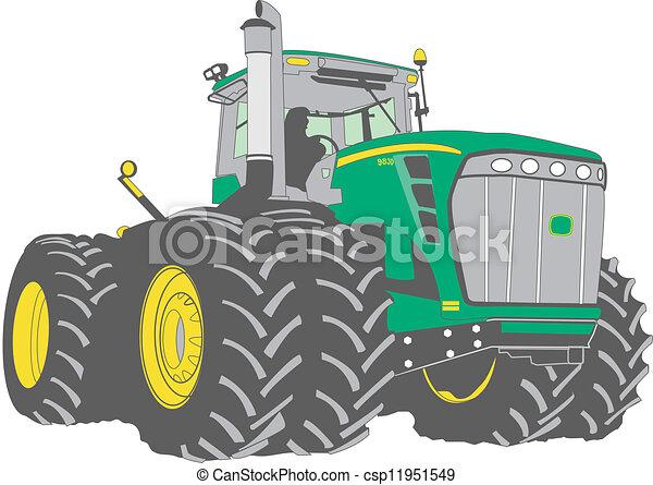 grand, tracteur ferme - csp11951549