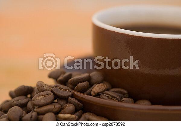 grande tasse café - csp2073592