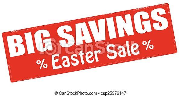 grandes économies, paques, vente - csp25376147