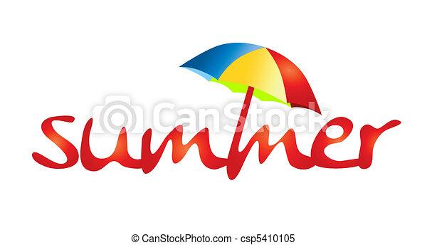 grandes vacances, -, ombre, soleil - csp5410105