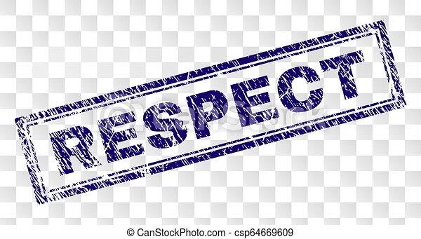 gratté, respect, rectangle, timbre - csp64669609