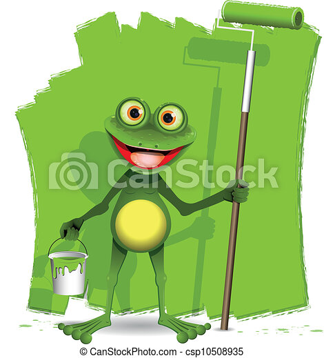 grenouille, peintre - csp10508935