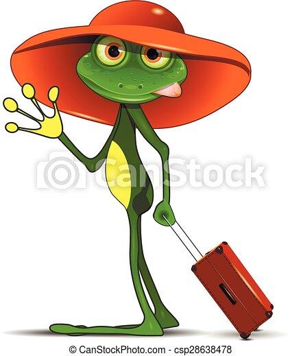 grenouille, valise - csp28638478