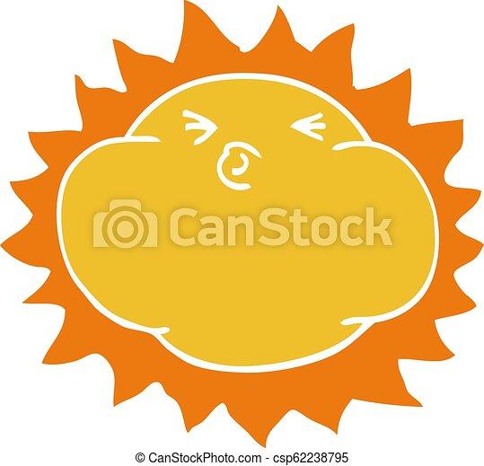 griffonnage, briller, dessin animé, soleil - csp62238795