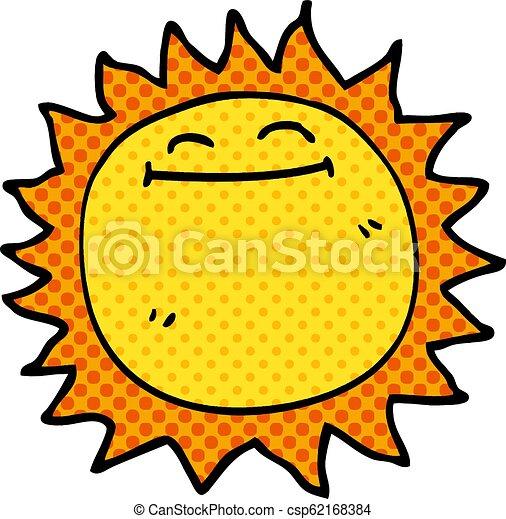 griffonnage, briller, dessin animé, soleil - csp62168384