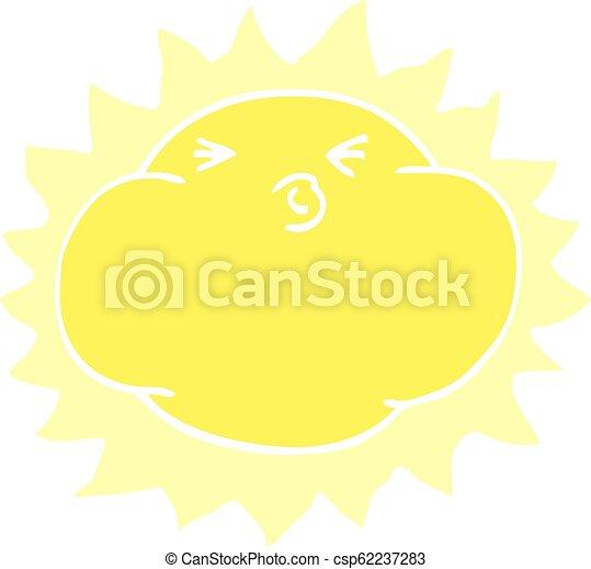 griffonnage, briller, dessin animé, soleil - csp62237283