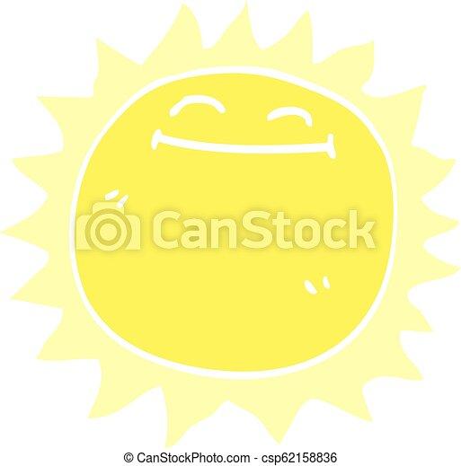 griffonnage, briller, dessin animé, soleil - csp62158836