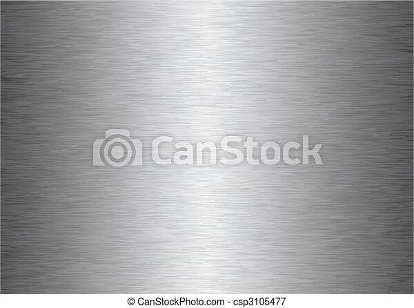 gris, métal, fond - csp3105477