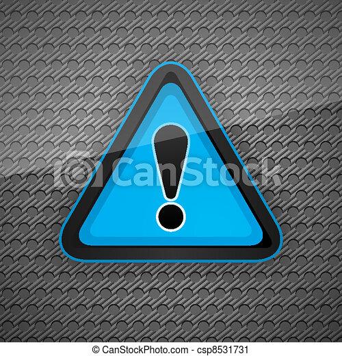 gris, symbole, attention, métal, danger, sombre, avertissement, surface - csp8531731