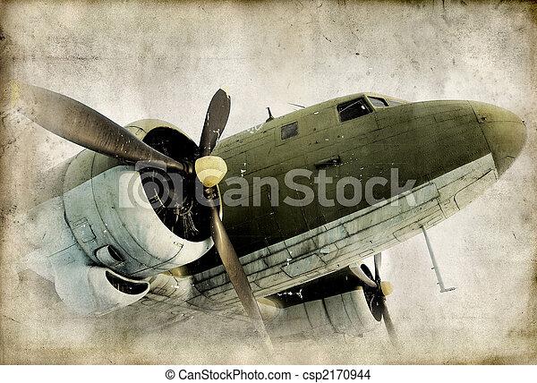 hélice, airplain, retro - csp2170944
