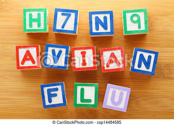 h7n9, avian, jouet, grippe, bloc - csp14484585