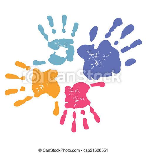 handprint, famille - csp21628551