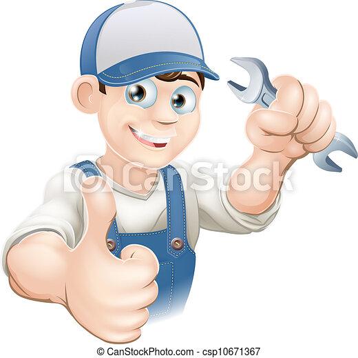 haut, plombier, ou, mécanicien, pouces - csp10671367