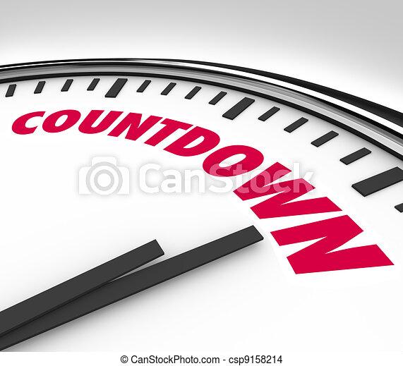 heures, compte rebours, horloge, bas, dénombrement, minutes, final - csp9158214