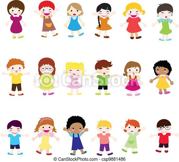 heureux, enfants - csp9881486