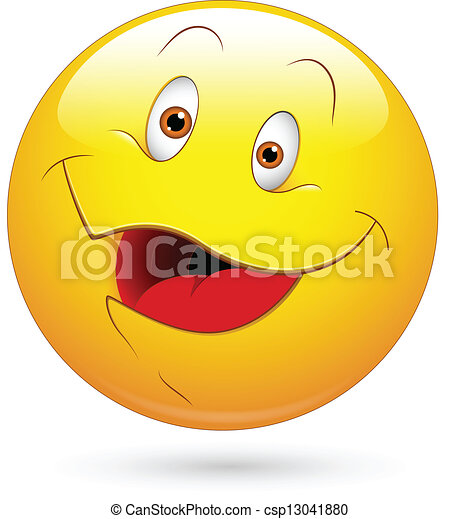 heureux, vecteur, visage smiley - csp13041880