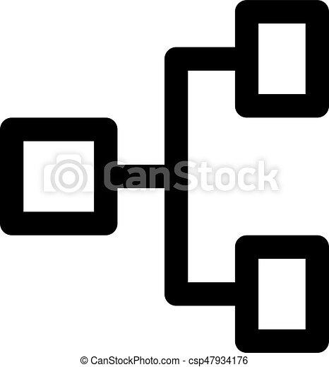 hiérarchie, horizontal - csp47934176