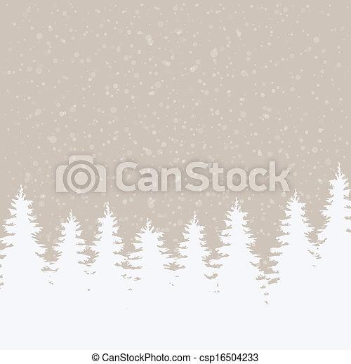hiver, fond, neigeux - csp16504233