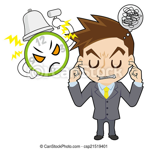 homme affaires, horloge - csp21519401