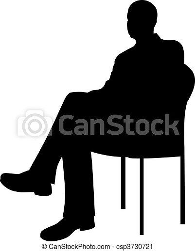 homme affaires, séance - csp3730721