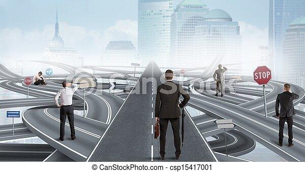 homme affaires, solution, facile - csp15417001