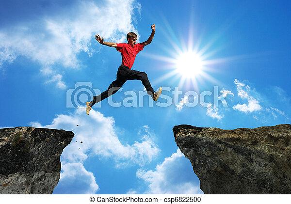 homme, saut - csp6822500