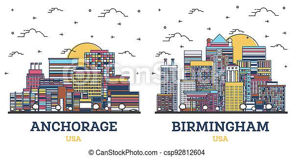 horizon, usa, alabama, anchorage, birmingham, set., ville, contour, alaska - csp92812604