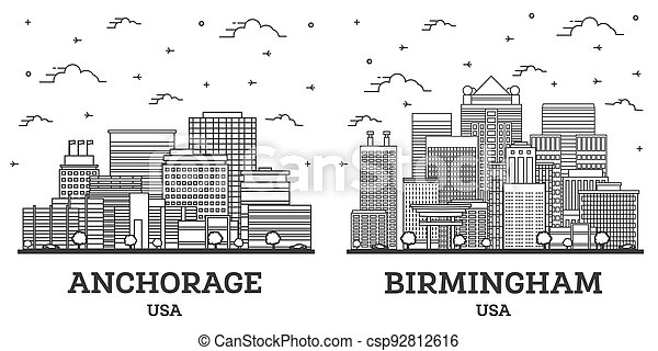 horizon, usa, alabama, anchorage, birmingham, set., ville, contour, alaska - csp92812616
