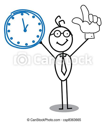 horloge, homme affaires - csp8363665