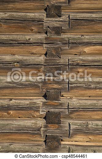 house., bois, vieux, journaux bord, texture - csp48544461